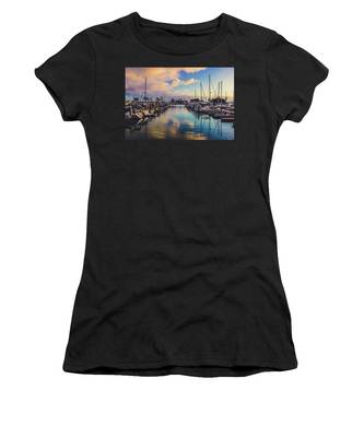 Sunset At Dana Point Harbor Women's T-Shirt