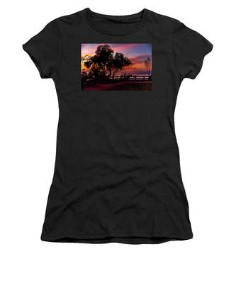 Sunset Silhouettes From Palisades Park Women's T-Shirt