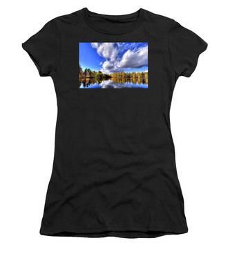 Tamarack Reflections In The Adirondacks Women's T-Shirt