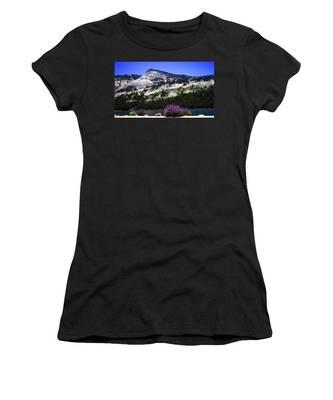 Tanaya Lake Wildflowers Yosemite Women's T-Shirt