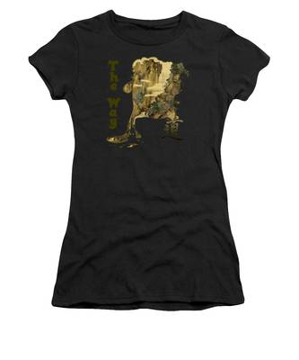 Women's T-Shirt featuring the painting Tani Buncho Chi by Robert G Kernodle