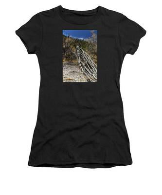 Women's T-Shirt featuring the photograph The Desert Sentinel by Break The Silhouette