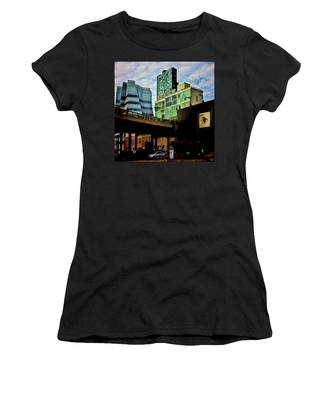 Women's T-Shirt featuring the photograph The Highline Nyc by Chris Lord