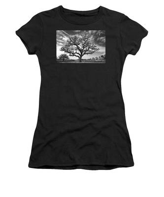 Women's T-Shirt featuring the photograph The Sentinel Bw by Jemmy Archer