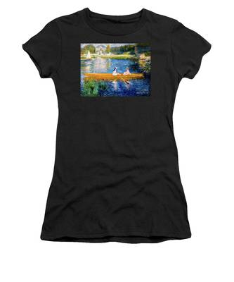 Renoir Boating On The Seine Women's T-Shirt