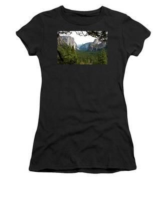 Tunnel View Framed Women's T-Shirt
