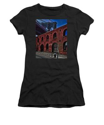 Women's T-Shirt featuring the photograph Under The Bridge by Chris Lord