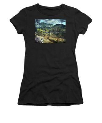 Vista View Of Cannon Mountain Women's T-Shirt