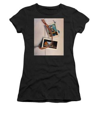 Women's T-Shirt featuring the painting Wall Study by Break The Silhouette