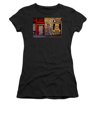 Women's T-Shirt featuring the photograph West Village Wall Nyc by Chris Lord