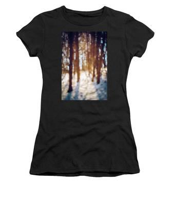 Winter In Snow Women's T-Shirt