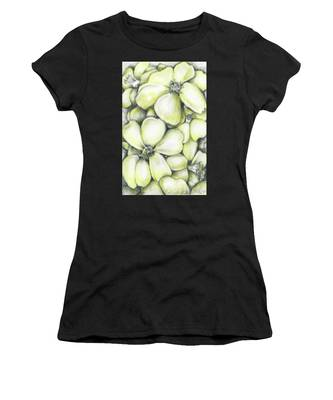 Yellow Flowers Pencil Women's T-Shirt