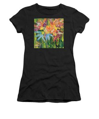 Zinnias Gone Mad Women's T-Shirt