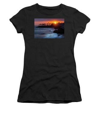 Colorful Laguna Beach Sunset Women's T-Shirt