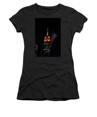 Empire State Building American Flag Women's T-Shirt