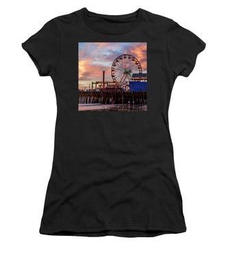 Ferris Wheel On The Pier - Square Women's T-Shirt