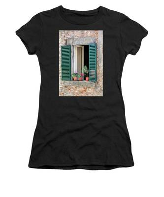 Open Window Of Tuscany Women's T-Shirt