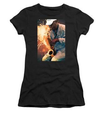 Street Sax Player Women's T-Shirt