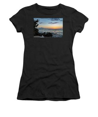 Sunset Afterglow In Negril Jamaica Women's T-Shirt