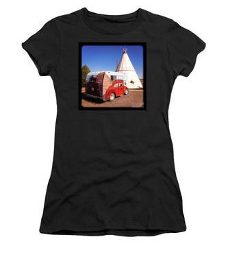 Vintage Volkswagon Beatle Camper  Women's T-Shirt