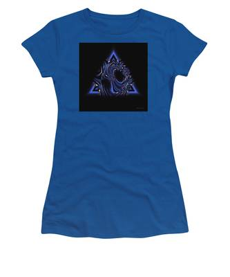 Blue Triangle Jewel Abstract Women's T-Shirt