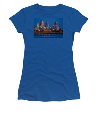 city lights and blue hour at Tel Aviv Women's T-Shirt