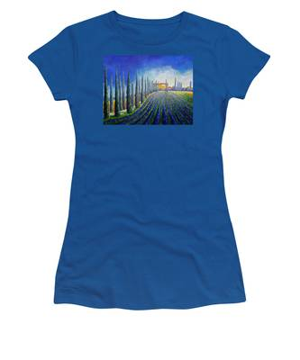 Lavender Field Women's T-Shirt