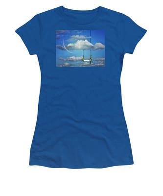 Playing In The Clouds Women's T-Shirt