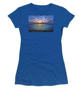 Sunset At The Cliff Beach Women's T-Shirt