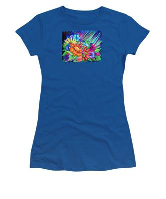Women's T-Shirt featuring the painting Toward The Light by Nancy Cupp