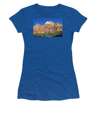 Women's T-Shirt featuring the photograph Zion Wall by Jemmy Archer