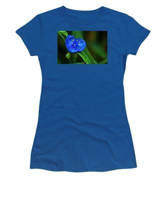 Yellow Blue And Raindrops Women's T-Shirt