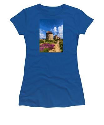 Windmills Of Portugal Women's T-Shirt