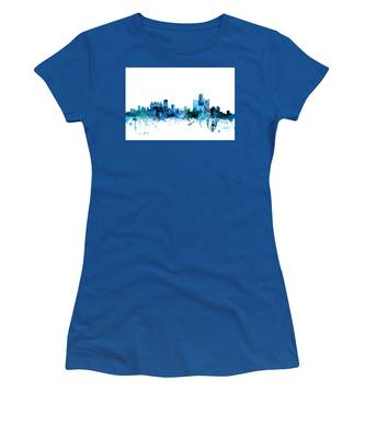 Detroit Michigan Skyline Women's T-Shirt