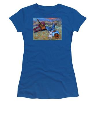 Guitar Doggy And Me In Wine Country Women's T-Shirt