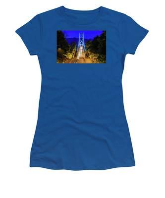 Lions Gate Bridge At Night Women's T-Shirt
