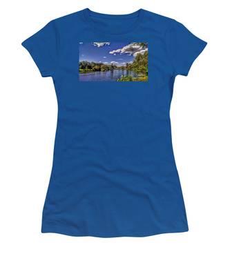 Pond At Verona Park Women's T-Shirt