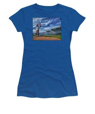 Women's T-Shirt featuring the photograph San Diego Sailor by Chris Lord