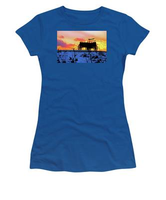 Wagon Hill At Sunset Women's T-Shirt