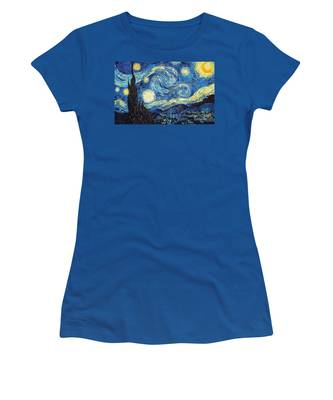 Starry Night By Van Gogh Women's T-Shirt