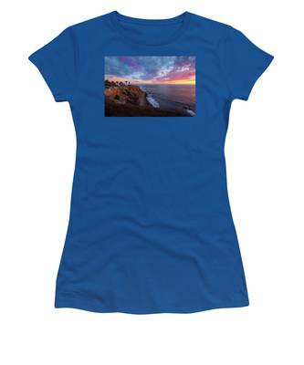 Colorful Sky After Sunset At Point Vicente Lighthouse Women's T-Shirt