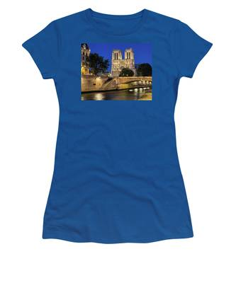 Notre Dame Cathedral Evening Women's T-Shirt by Jemmy Archer