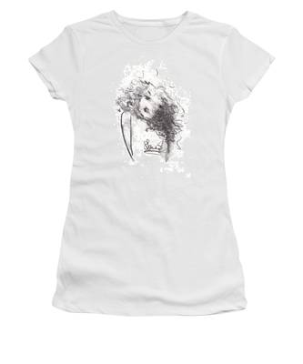Women's T-Shirt featuring the drawing Just Me by Laurie Lundquist
