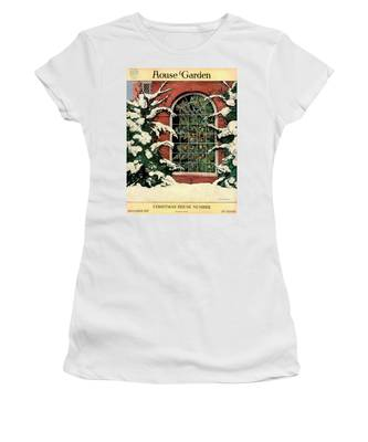 A House And Garden Cover Of A Christmas Tree Women's T-Shirt