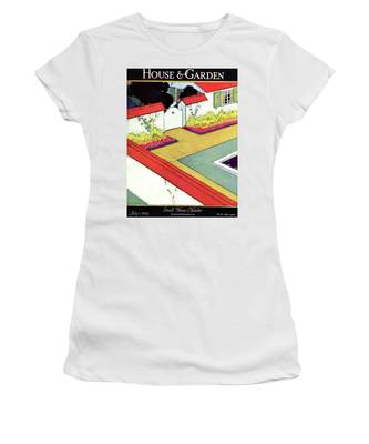 A Reflecting Pool And Garden Women's T-Shirt
