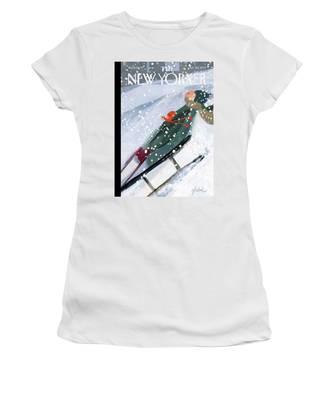 Downhill Racers Women's T-Shirt