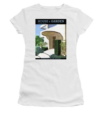 House & Garden Cover Illustration Of A Modern Women's T-Shirt
