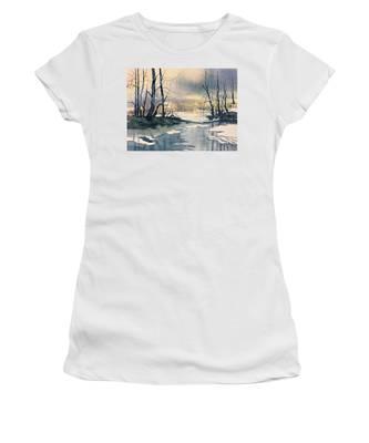Melt Water On Skipwith Common Women's T-Shirt