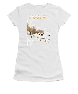 New Yorker January 6th, 1962 Women's T-Shirt