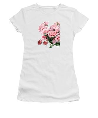 Pink Rose Bouquet Women's T-Shirt